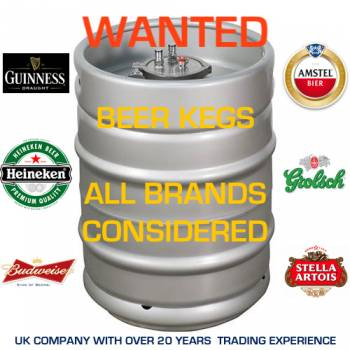 WANTED - All Beer Kegs UB ** GUINNESS