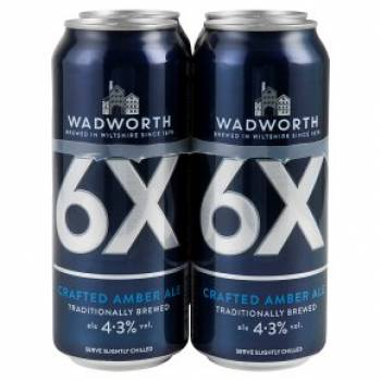 Wadworth 6X (4.3%) Alc English Golden Ale Cans 500ml - RESTRICTED COUNTRIES Cases 24 x 500ml