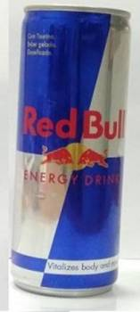 Redbull with Portugese text