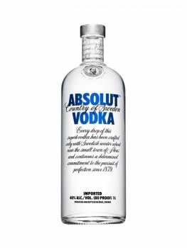 Absolut 75cl. Absolut 100cl. On floor