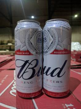 Bud cans 50cl
