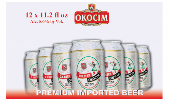 Okocim O.K. beer can 2x12 0,33 cl 5,6%