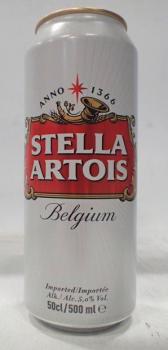 Stella 50cl cans - 5% belgium
