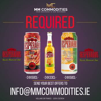 DESPERADOS CANS AND BOTTLES REQUIRED