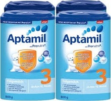 German Aptamil 1,2,3 mit Pronutra Folgemilch 800g available for shipment.