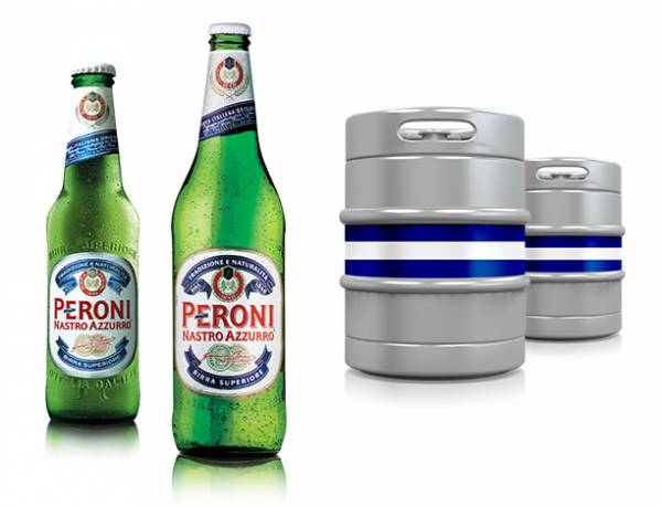 Any branded alcohol beverages spirits/beer with Multinational text/international text