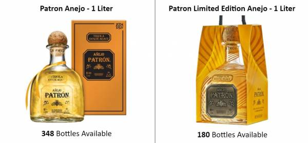 Patron Limited Edition Anejo - 1 Liter  EUR 24.00  (528 Bottles Available) with gift packaging