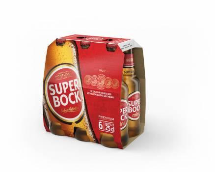 Super Bock mini 250 ml bottle, 6-pack